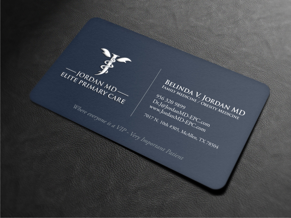 Serious professional medical business card design for jordan elite business card design by atvento graphics for jordan elite primary care design 17435230 colourmoves