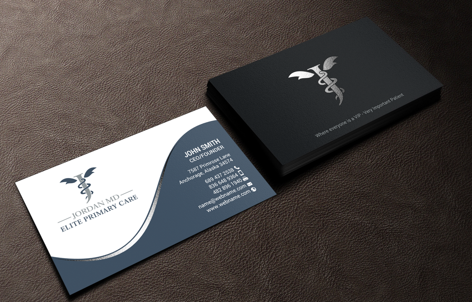 Serious, Professional, Medical Business Card Design for Jordan Elite ...