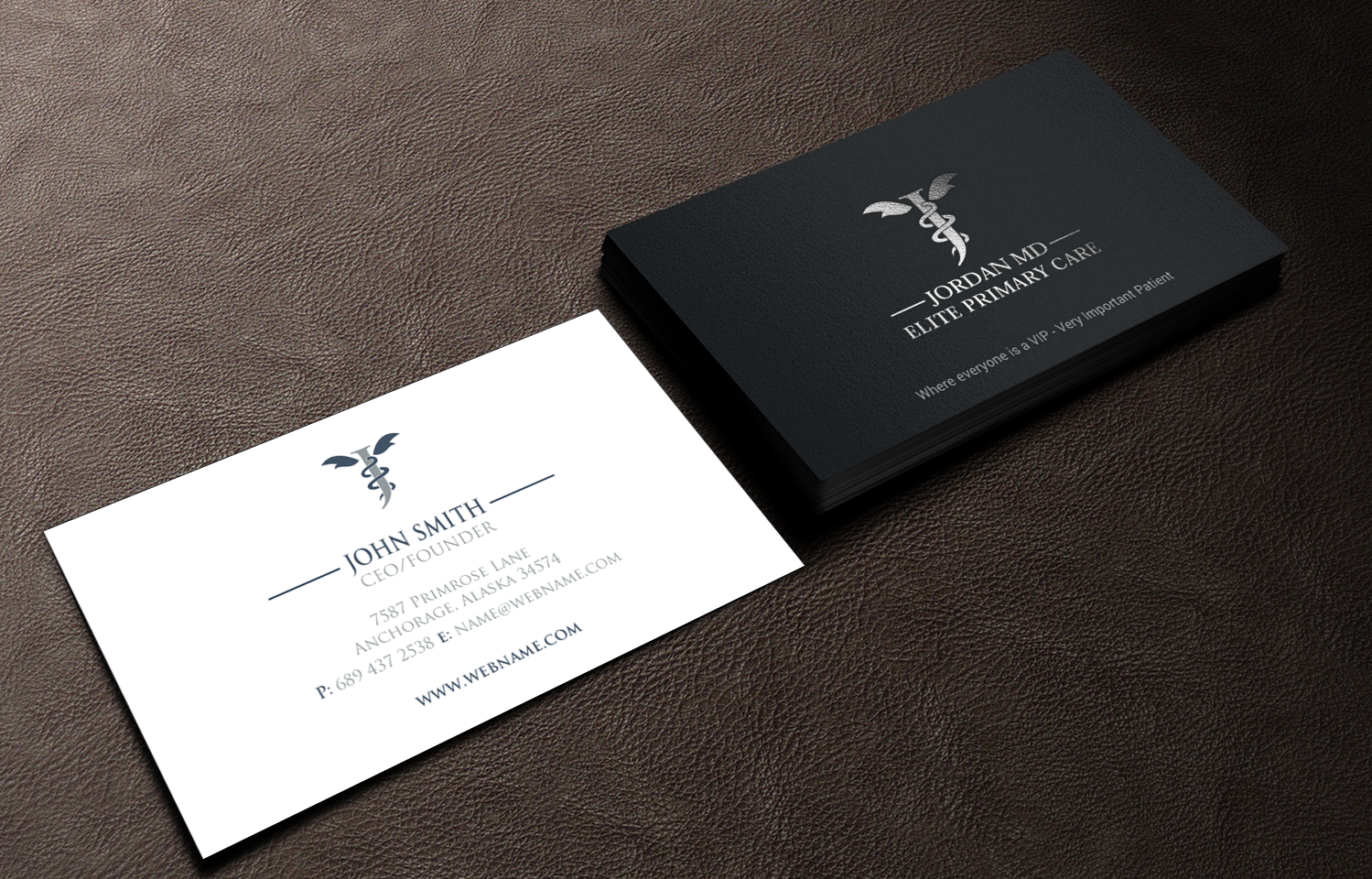 Serious professional medical business card design for jordan elite business card design by chandrayaaneative for jordan elite primary care design 17414058 colourmoves