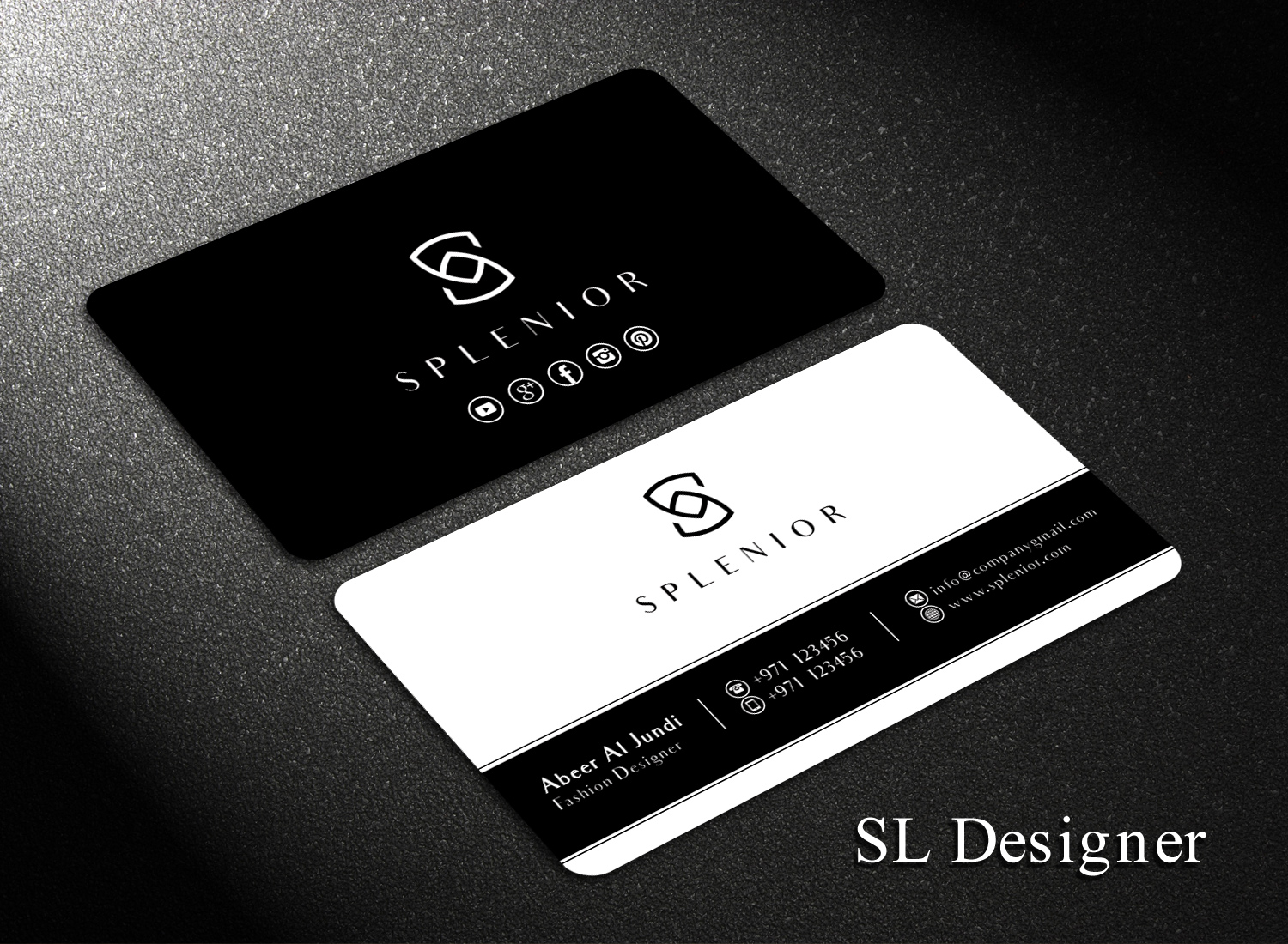 business card design by sl designer for this project design 17427139 - Fashion Designer Business Card