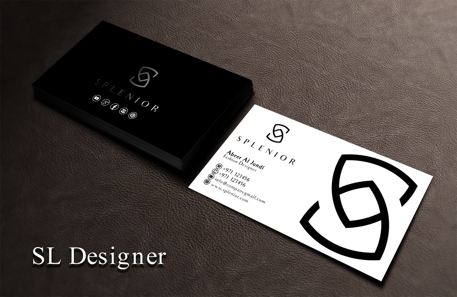 Modern Feminine Fashion Business Card Design For A Company By Sl Designer Design 17427147