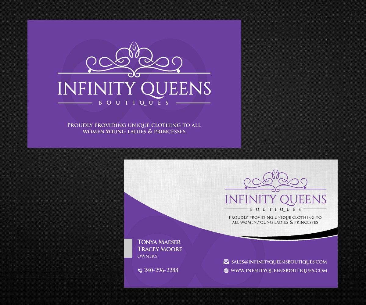 Design De Carte Visite Par Designers Hub Pour Infinity Queens Boutique