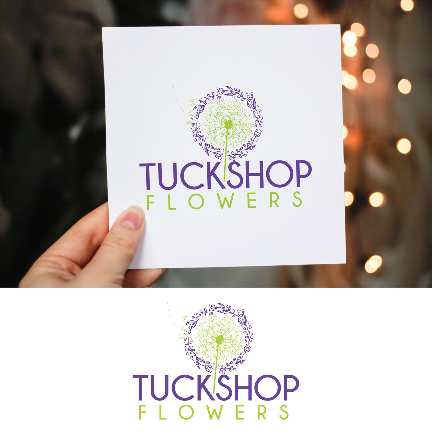 Upmarket, Elegant, Business Logo Design for TUCKSHOP FLOWERS (avenir