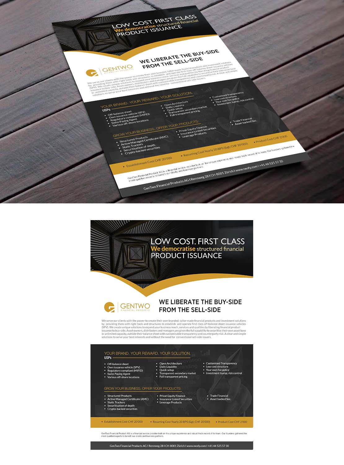 masculine professional financial service flyer design for g2 by