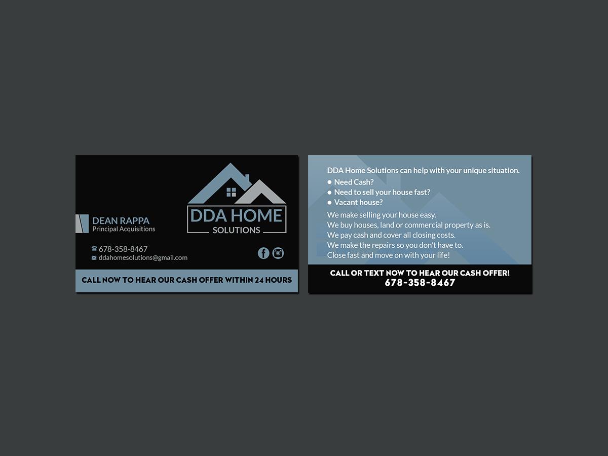 132 bold business card designs business business card design business card design by creations box 2015 for dda home solutions llc design colourmoves
