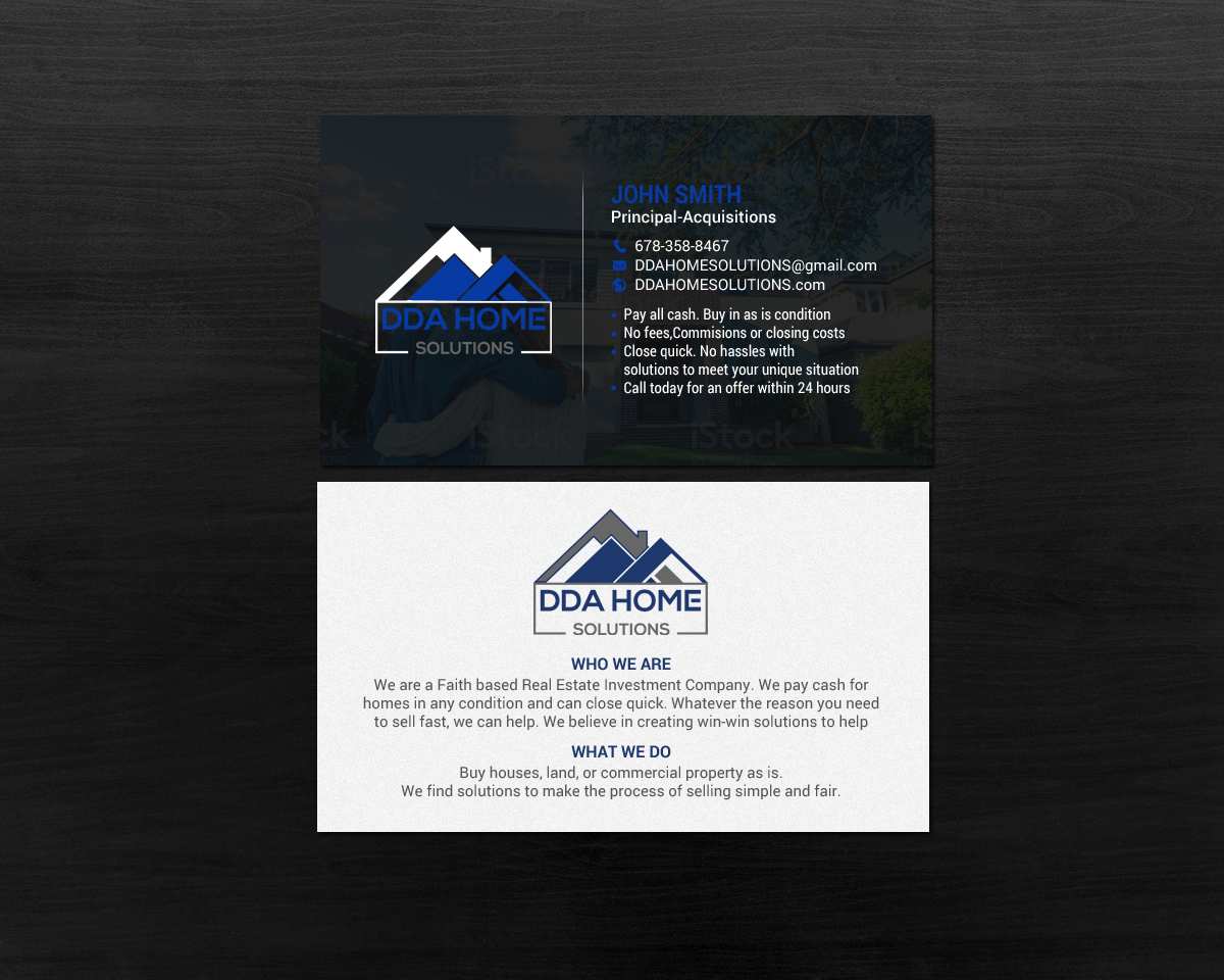Bold modern business business card design for dda home solutions bold modern business business card design for dda home solutions llc in united states design 17643406 reheart Gallery