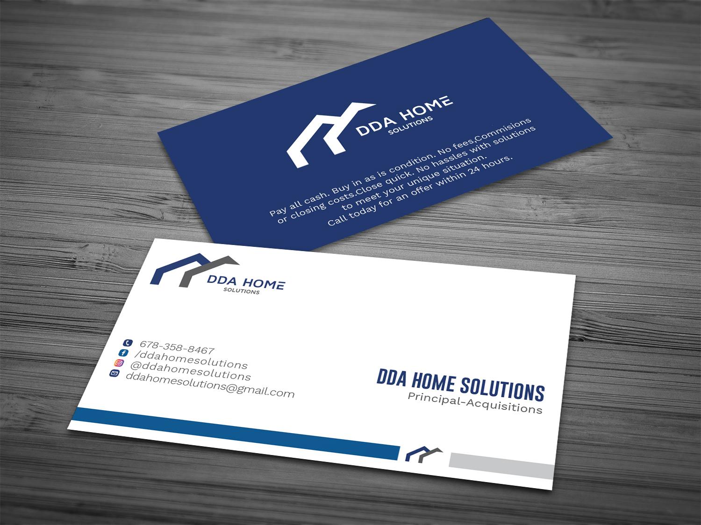 Bold, Modern, Business Business Card Design for DDA Home Solutions ...