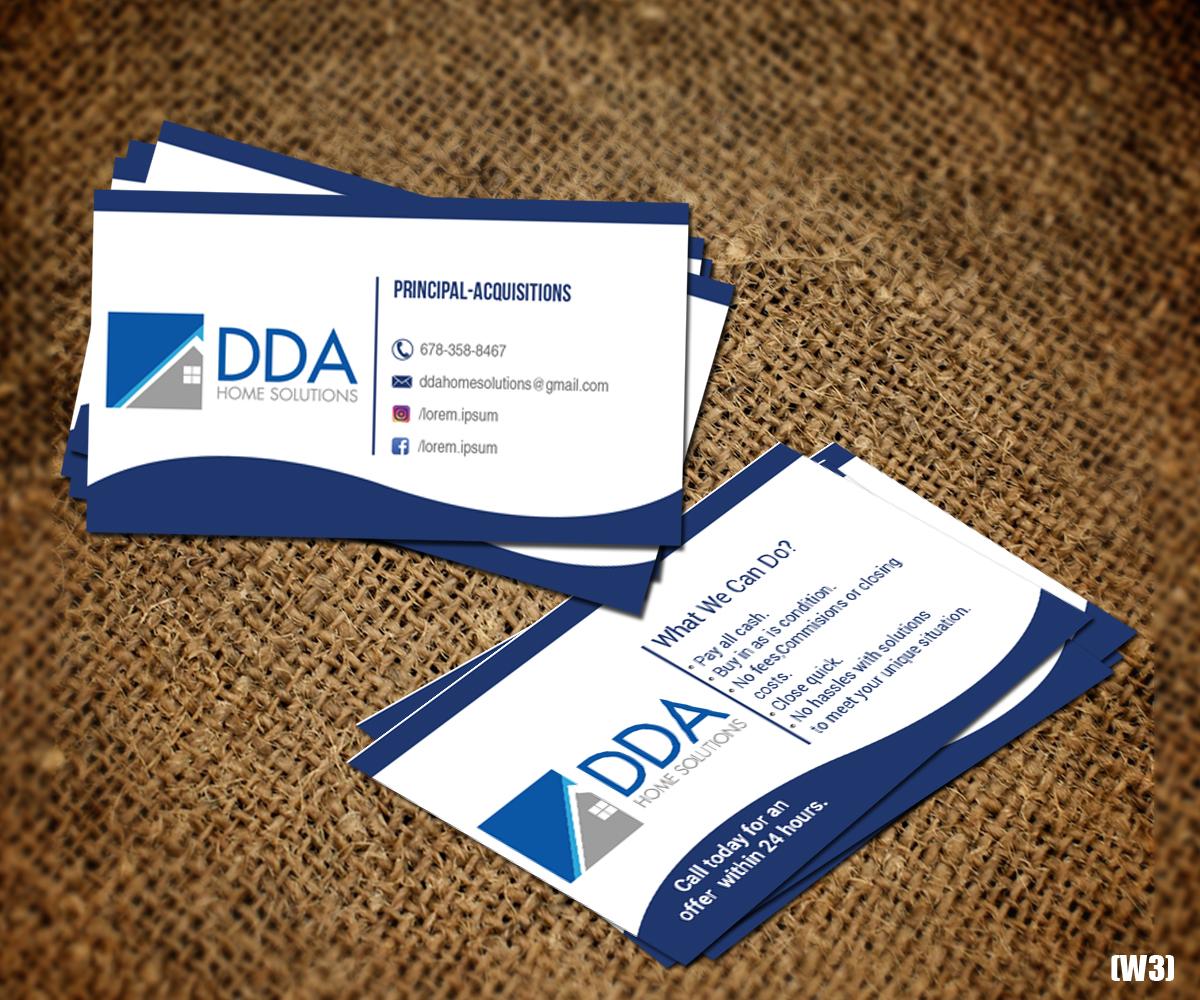 Design De Carte Visite Par Designanddevelopment Pour DDA Home Solutions LLC