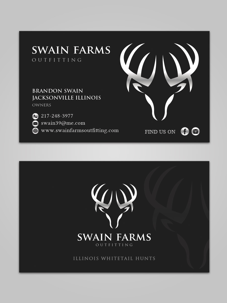 Modern professional hunting business card design for a company by business card design by sandaruwan for this project design 17462827 colourmoves