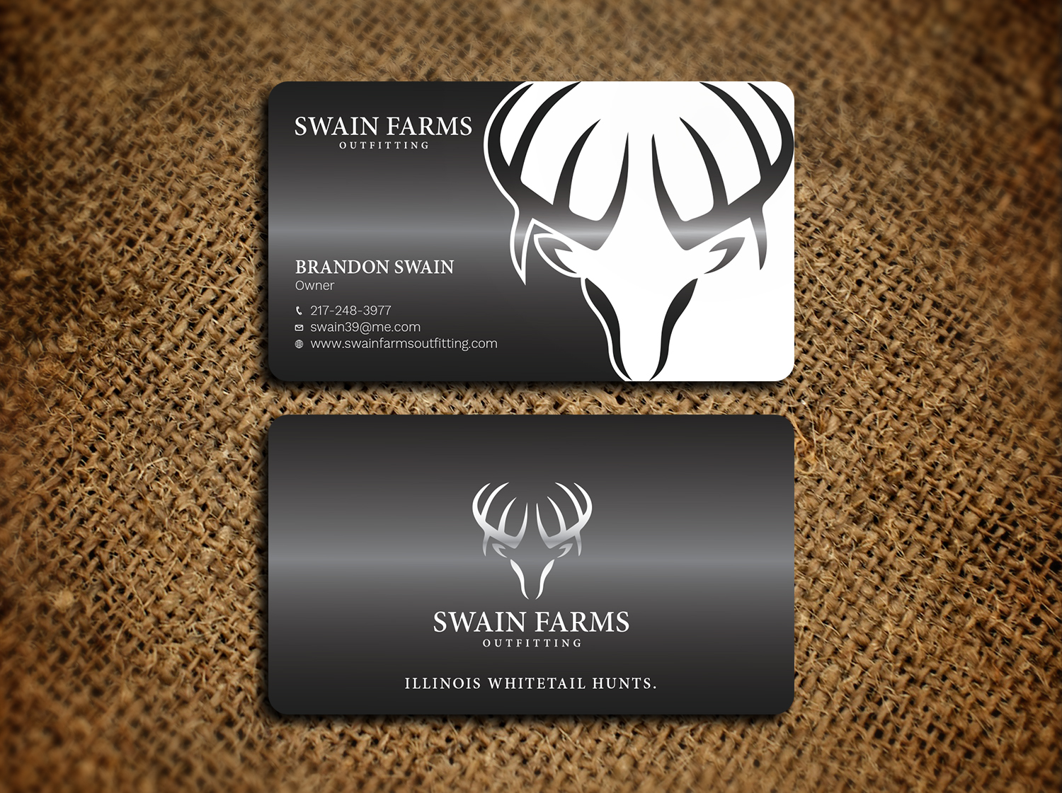Modern professional hunting business card design for a company by business card design by avanger000 for this project design 17461186 colourmoves