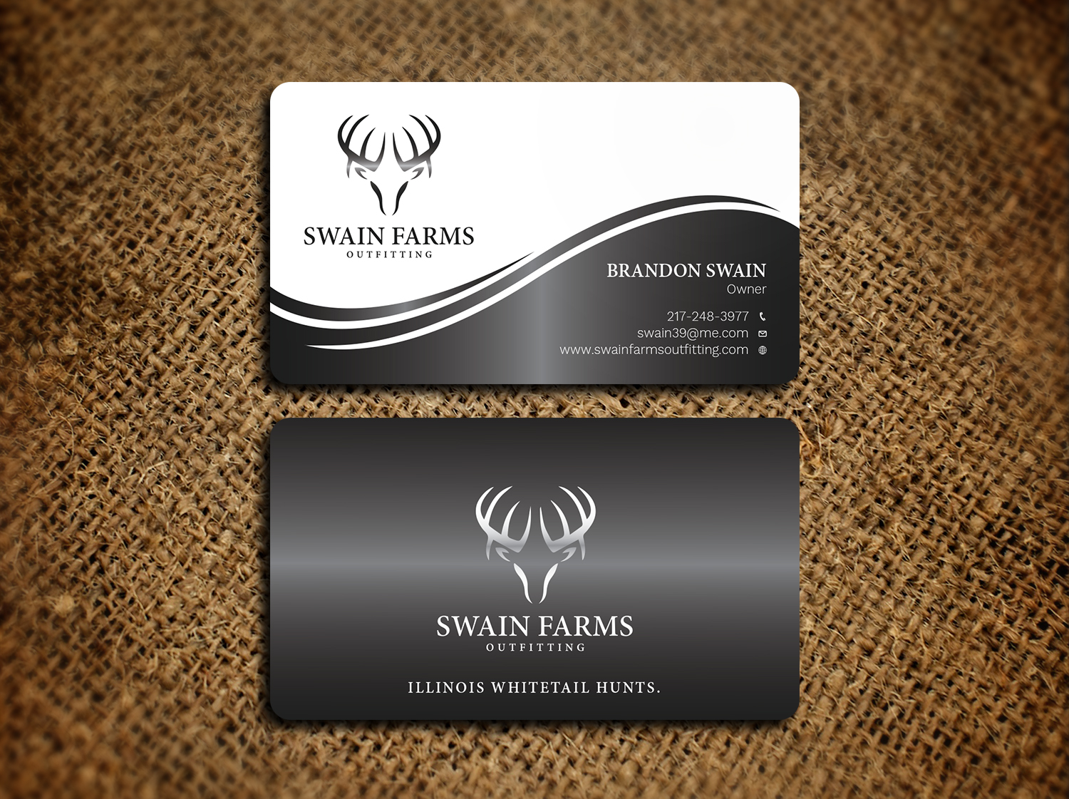 Modern professional hunting business card design for a company by business card design by avanger000 for this project design 17461199 colourmoves
