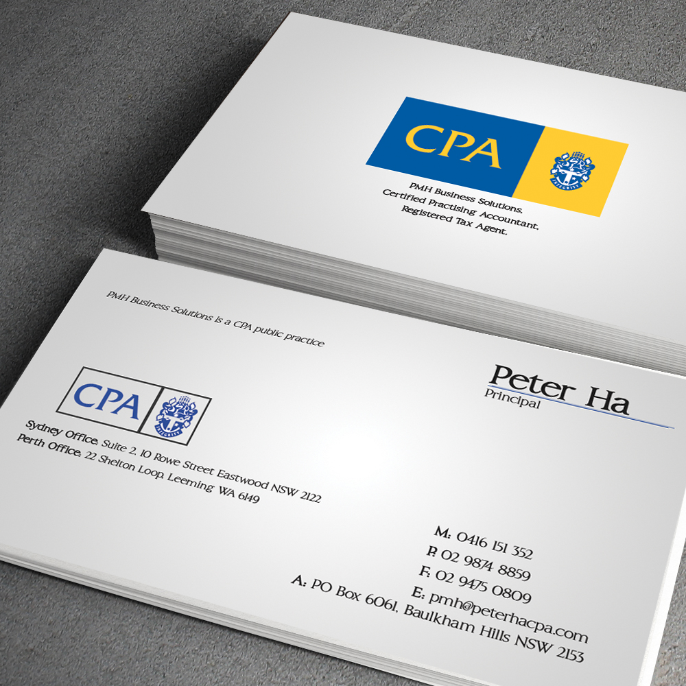 Business Card Design for Peter Ha by junaid ahmad | Design #2757734