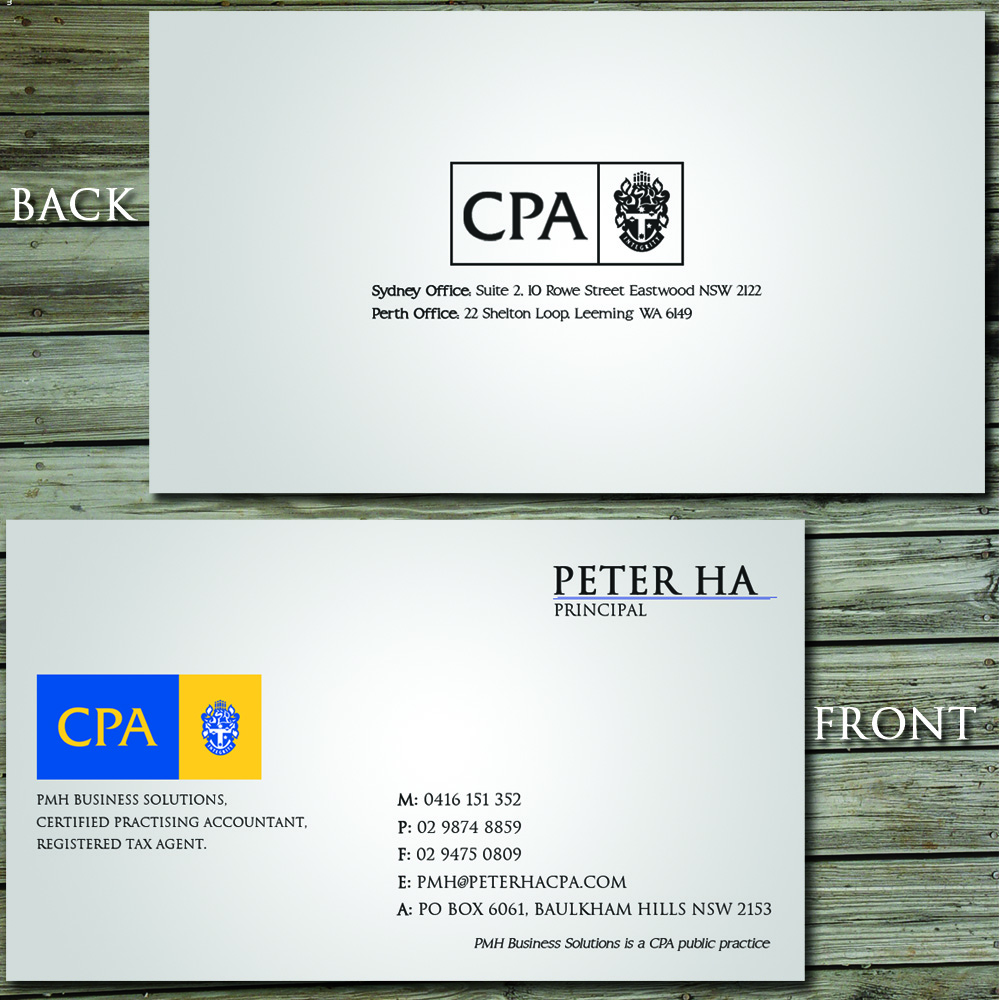 22 Professional Business Card Designs for a business in