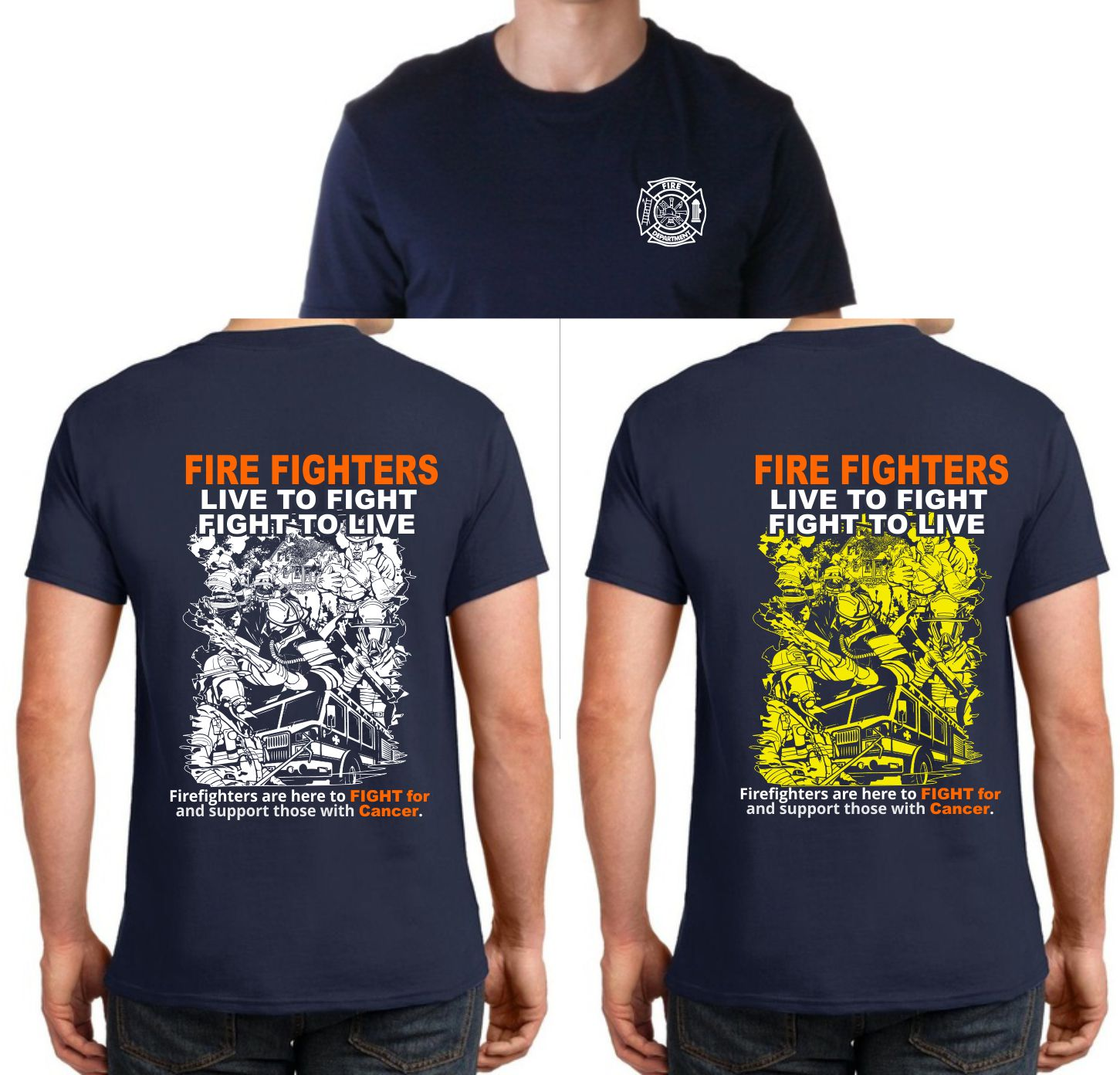 Bold Professional Fire Department T Shirt Design For Fundy Bay