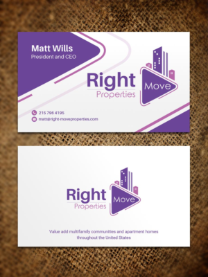 Investment business card designs 761 investment business cards to right move properties or rmp multifamily specialists business card design by sandaruwan reheart