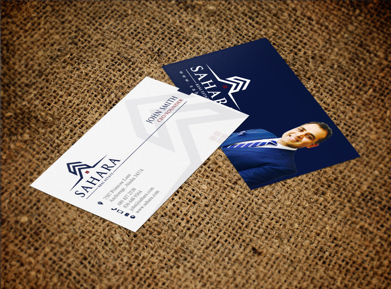Real Estate Business Card Design