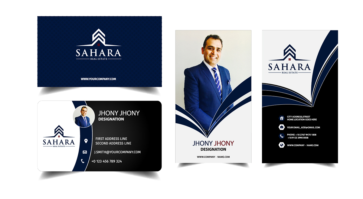 Professional modern real estate business card design for a company business card design by rizwan 4 for this project design 17745202 reheart Images