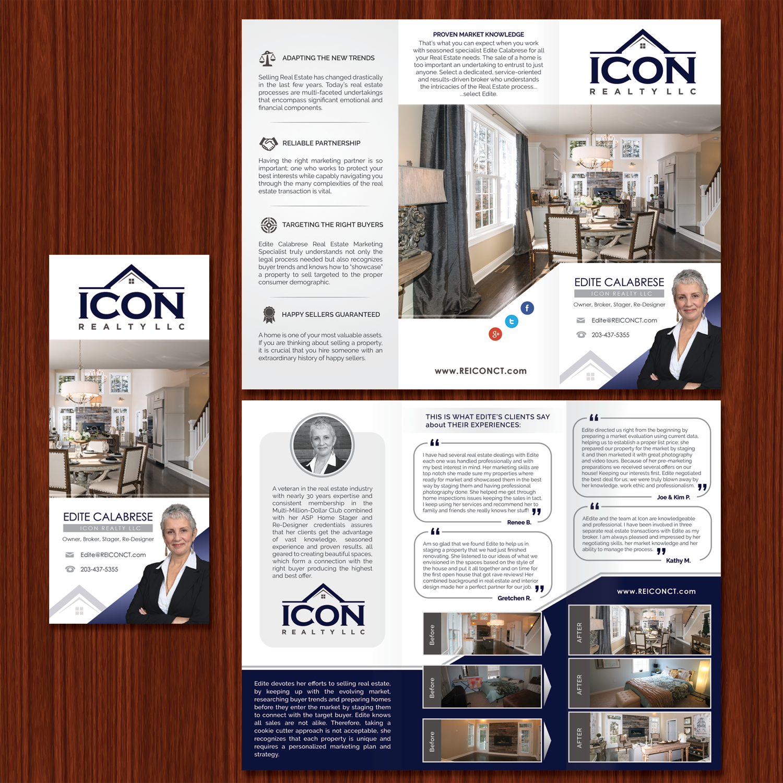 Modern, Upmarket, Real Estate Agent Flyer Design for ICON Realty LLC ...