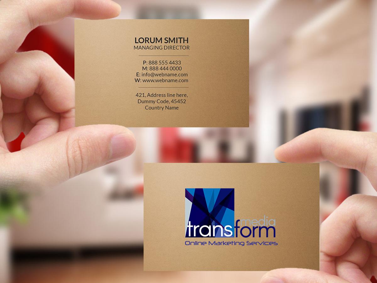 Elegant, Playful Business Card Design for Transform Media UG by