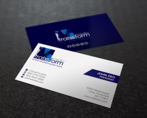 Elegant Playful Business Card Design For Transform Media Ug