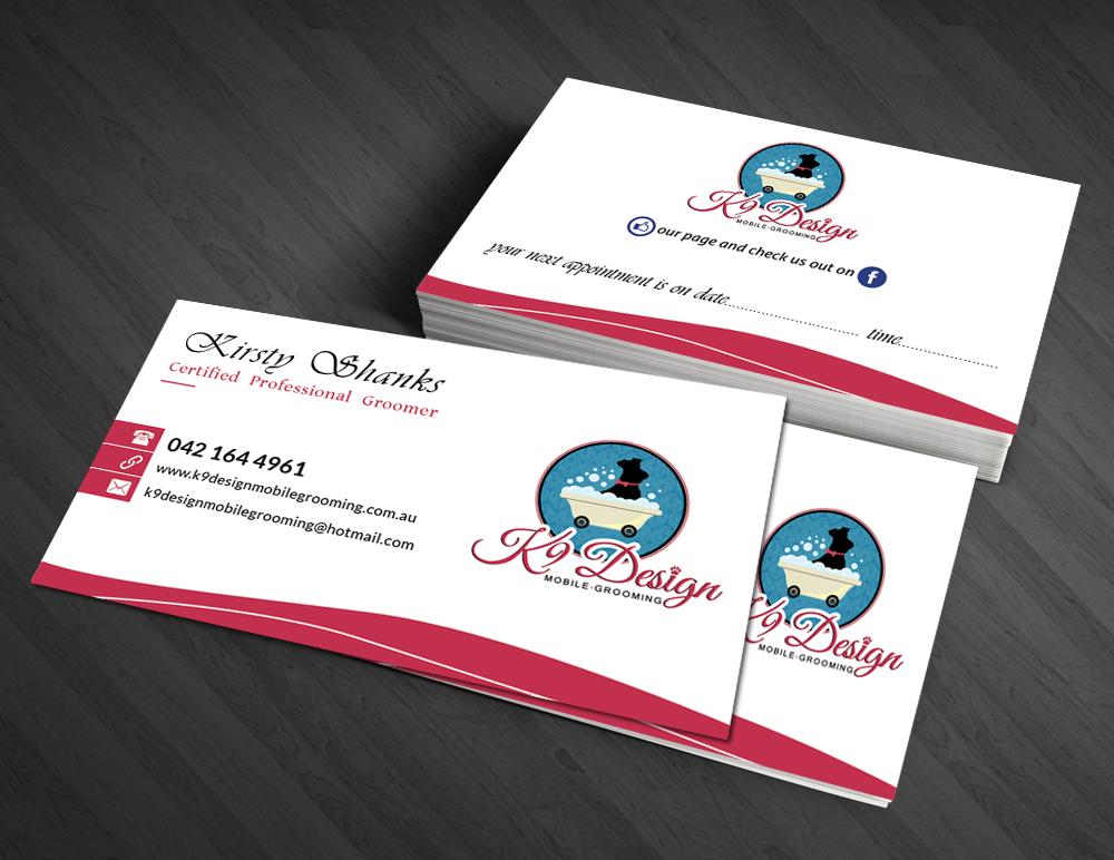 Bold, Modern, Business Business Card Design for K9 Design Mobile ...