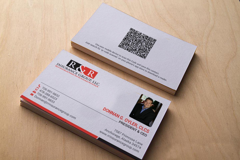 Upmarket, Modern, Insurance Business Card Design for R & R Insurance ...