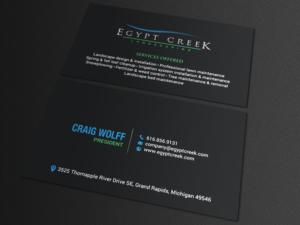 154 elegant upmarket landscaping business card designs for a