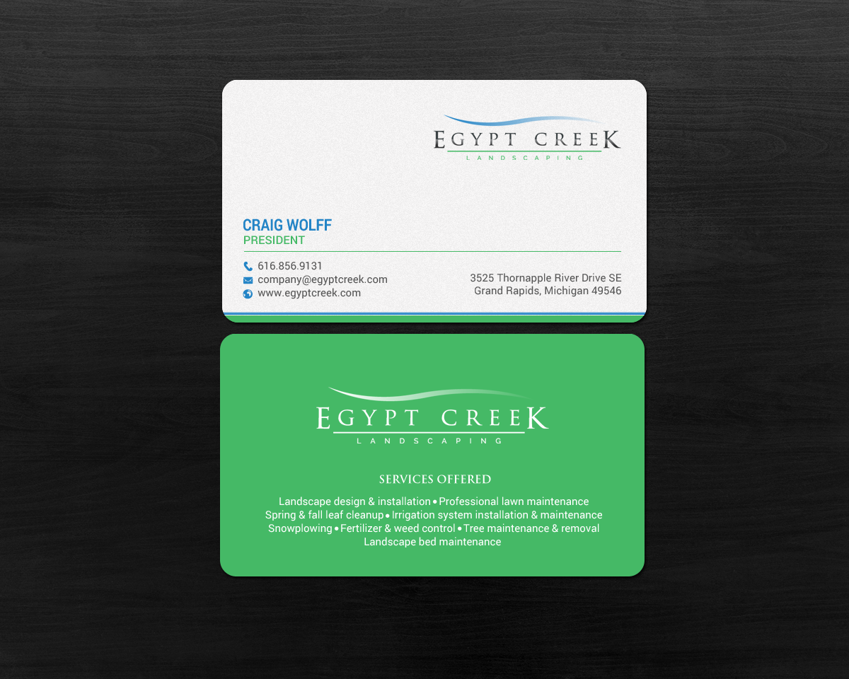 Elegant Upmarket Landscaping Business Card Design For A Company By