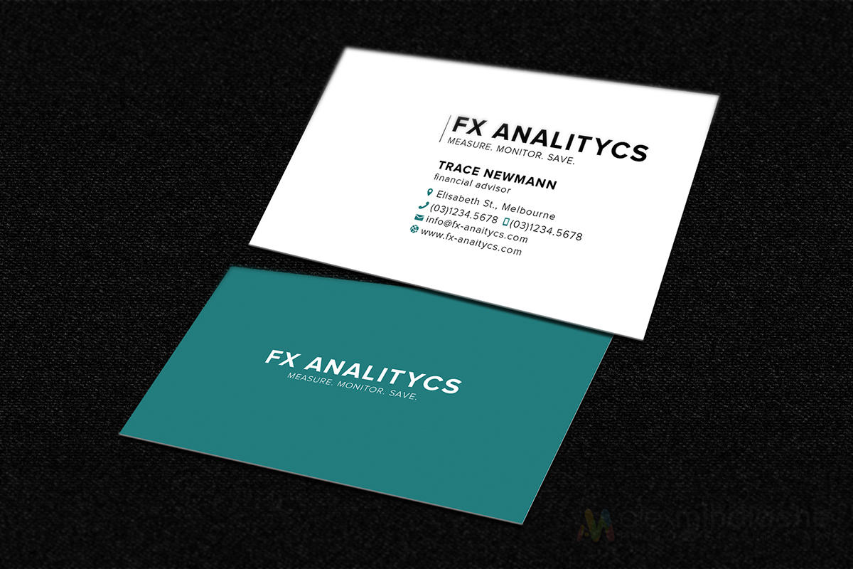 Business Business Card Design for FX Analytics by Alex Mihalache ...