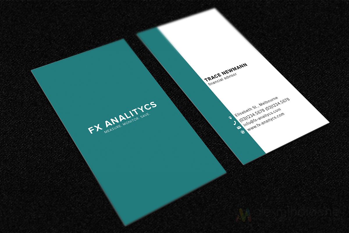 Business Card Design for FX Analytics by Alex Mihalache | Design ...