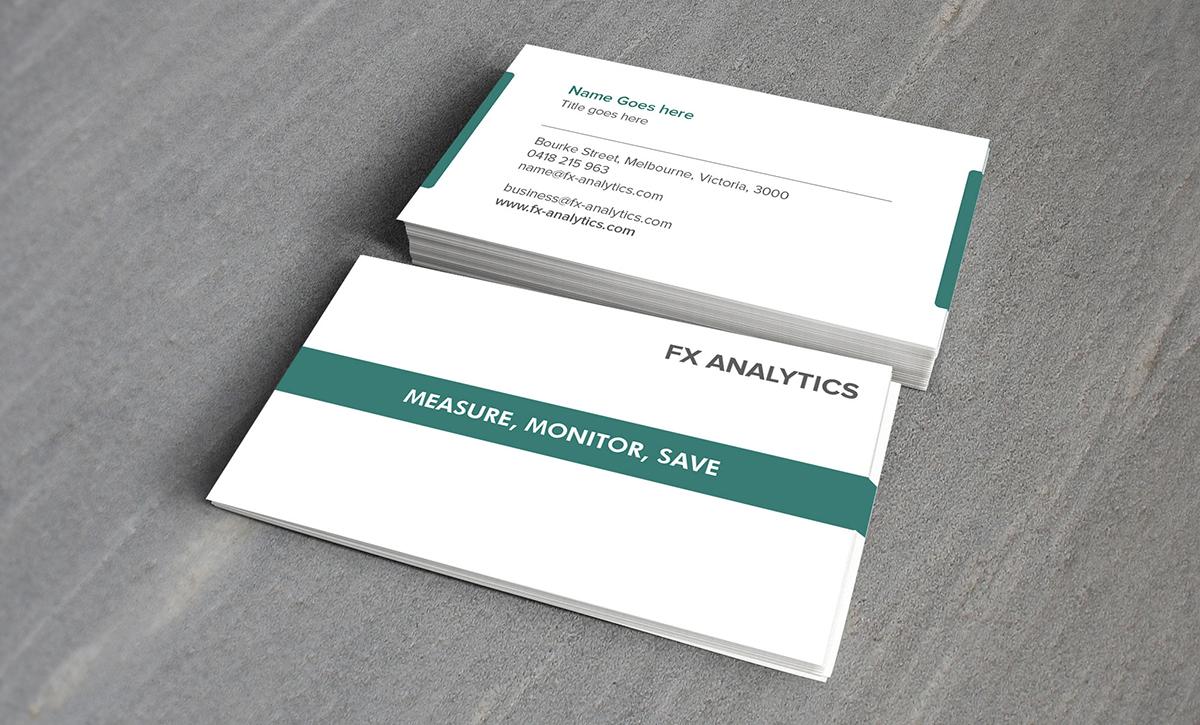 Business Business Card Design for FX Analytics by Muttayya S ...