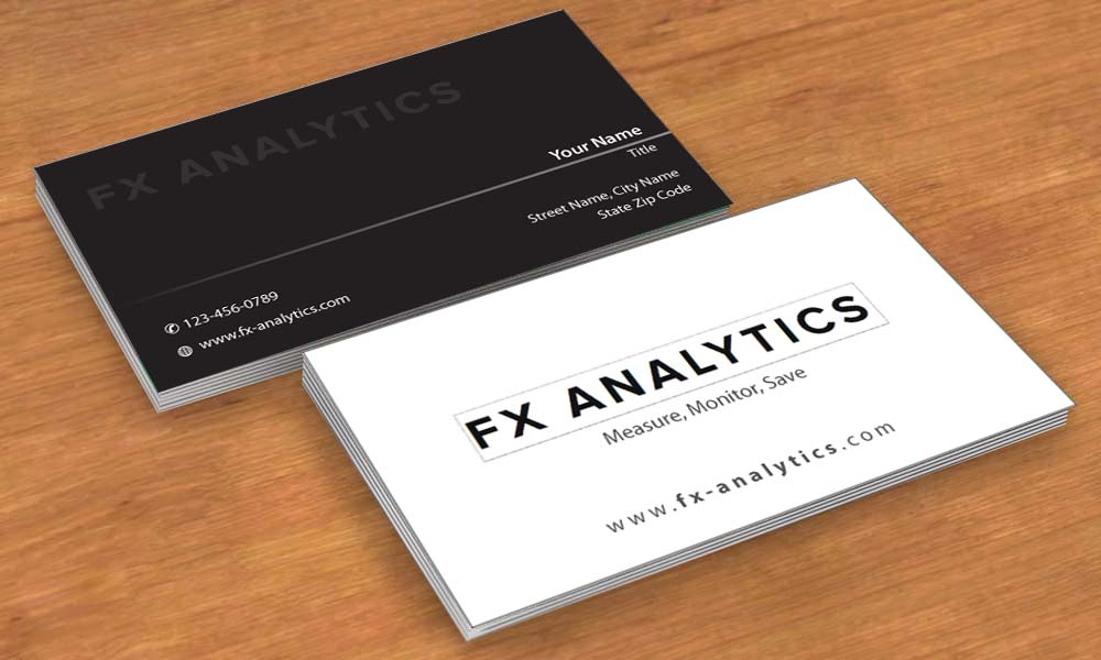 Business card design for fx analytics by smart design for Business design consultant