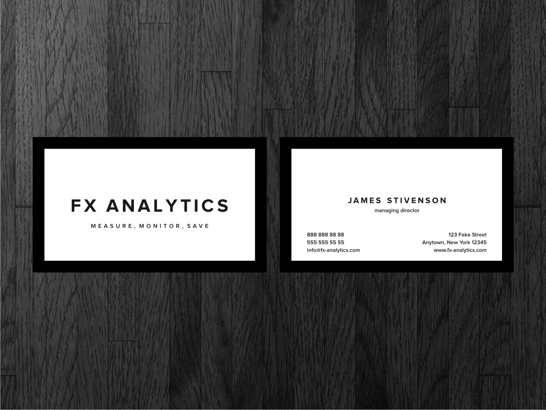 Business Card Design for FX Analytics by Atvento Graphics | Design ...
