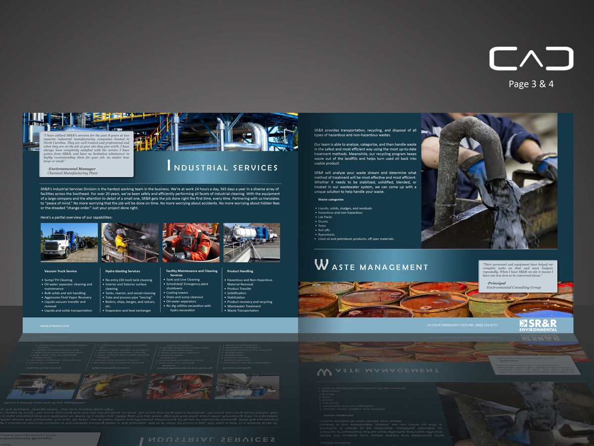 Serious bold industrial brochure design for a company by for Industrial design company
