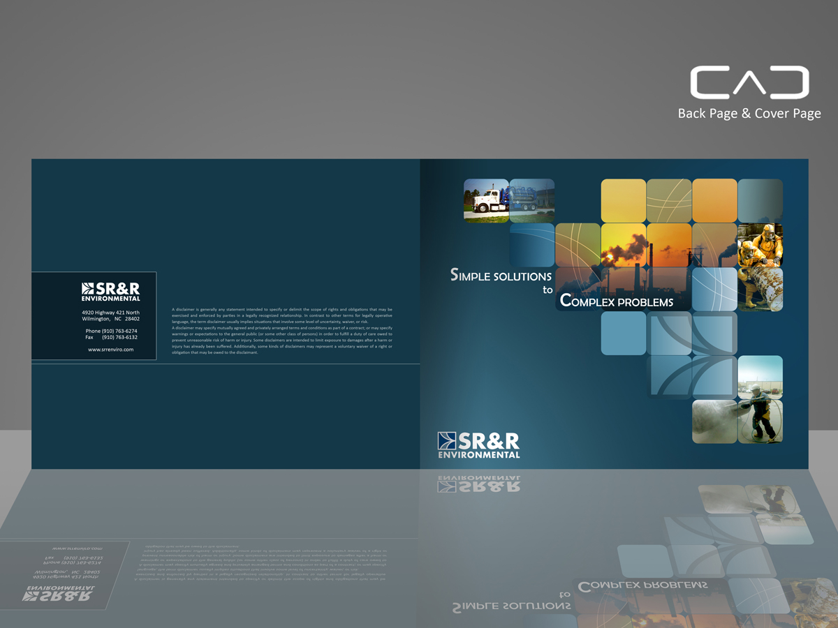 Serious bold industrial brochure design for a company by for Industrial design corporation
