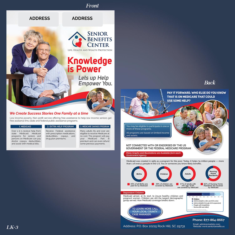 economical bold marketing flyer design for senior benefits center