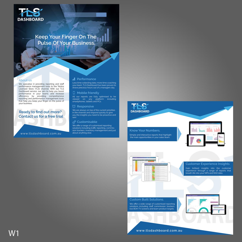 Modern, Professional, Software Flyer Design for TLS Business