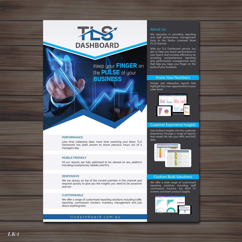modern professional software flyer design for tls business