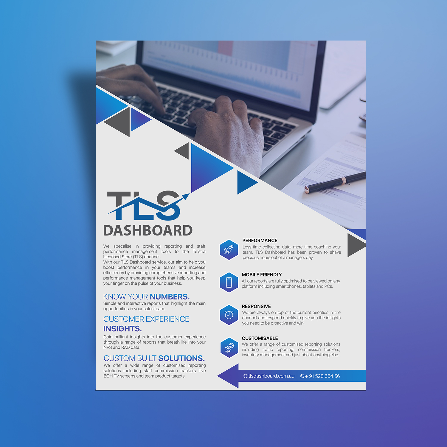 Modern, Professional, Software Flyer Design for TLS Business
