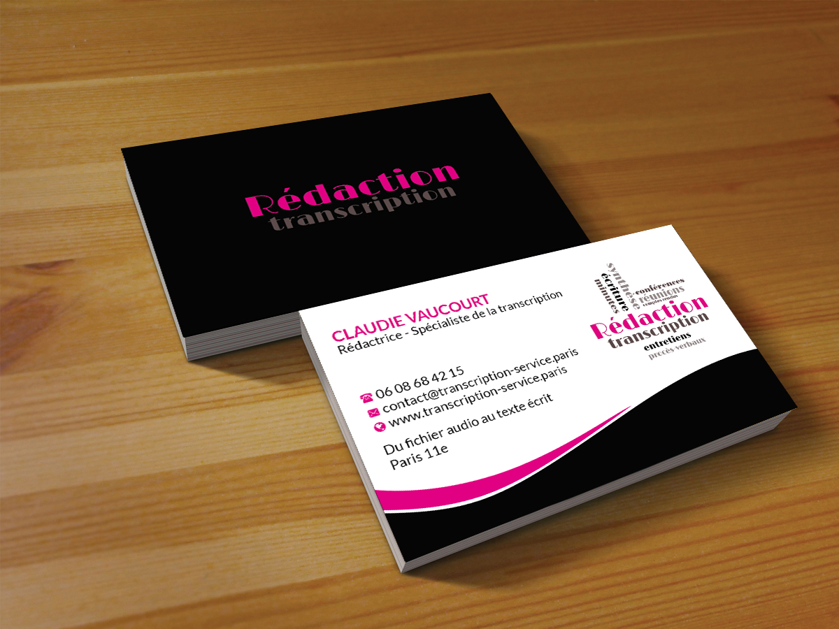 Elegant feminine audio business card design for rdactrice by business card design by creations box 2015 for rdactrice design 17576628 colourmoves