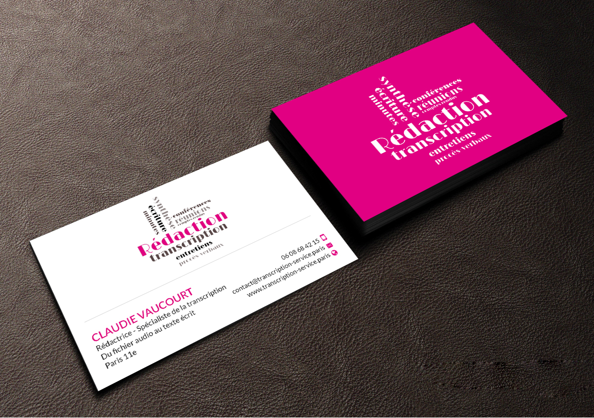 Elegant feminine business card design for rdactrice by creations business card design by creations box 2015 for rdactrice design 17576733 colourmoves