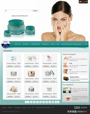 Web Design job – Ecological Cosmetics (w/ Social Impact) Website – Winning design by pb