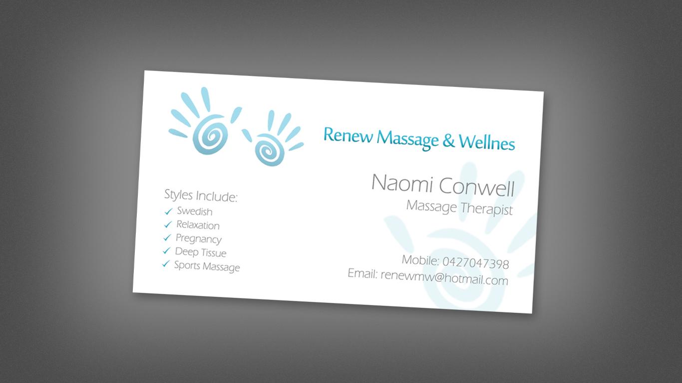 Modern Ernst Massage Visitenkarten Design Für A Company