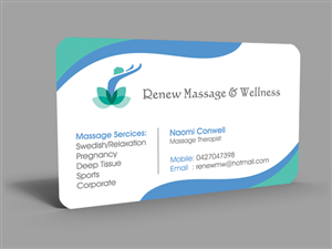 business card design by hardcore design for this project design 2757278 - Massage Therapy Business Cards