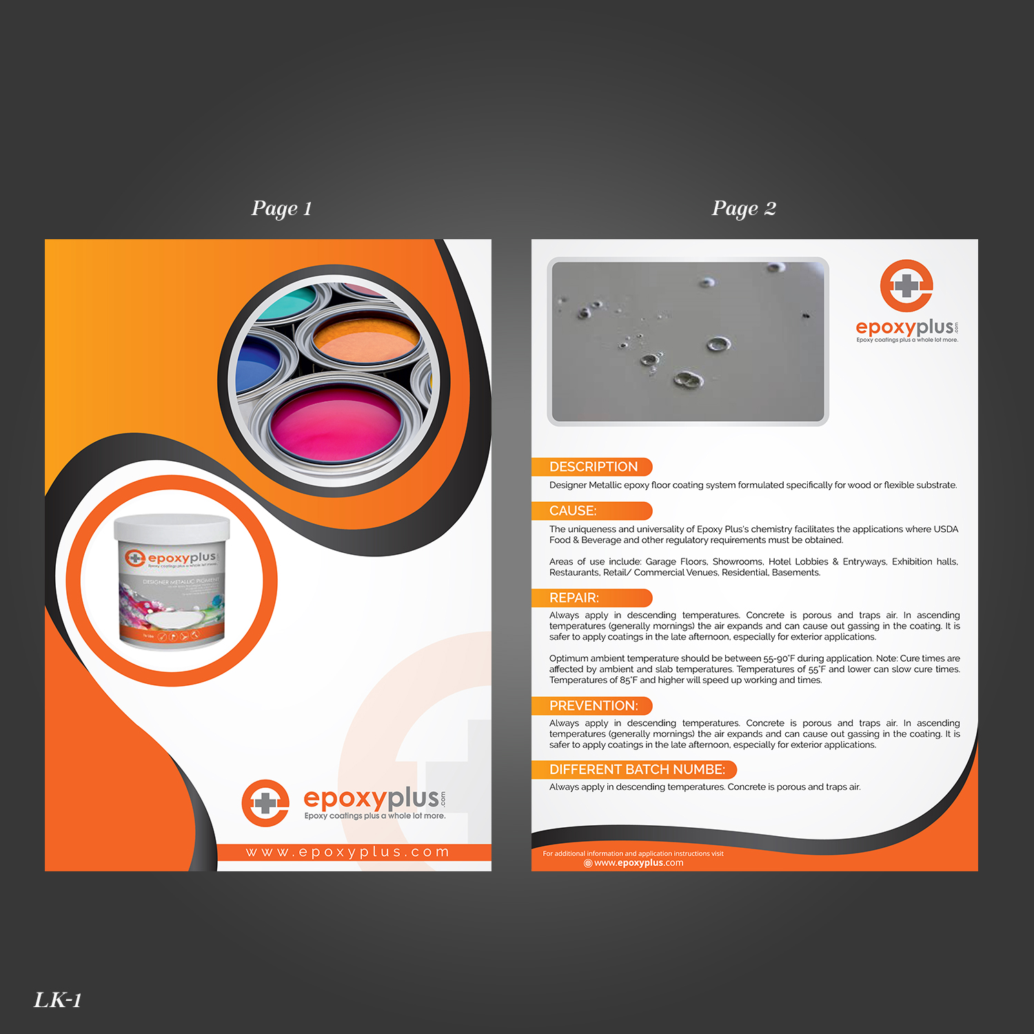 traditional serious online shopping flyer design for epoxy plus by