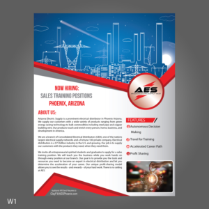 Flyer Design Job   Arizona Electric Supply Sales Training   Winning Design  By Designanddevelopment