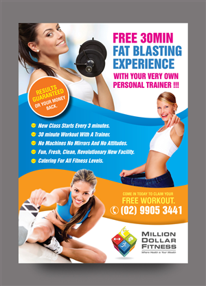 39 modern flyer designs fitness flyer design project for a