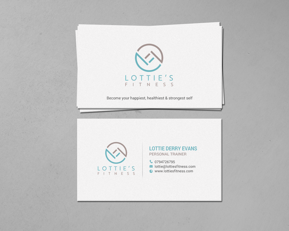 Elegant playful business card design for lottie derry evans by business card design by chandrayaaneative for lotties fitness business cards design 17641922 colourmoves