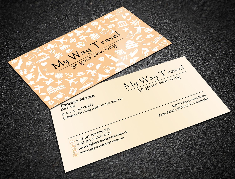 Elegant upmarket business business card design for my way travel business card design by sandaruwan for my way travel design 17681246 reheart Image collections