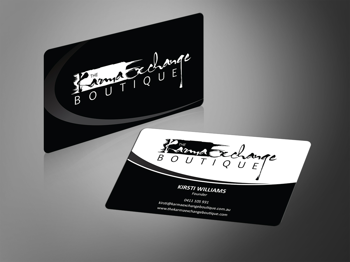 business card design by mt for this project design 2738606 - Boutique Business Cards